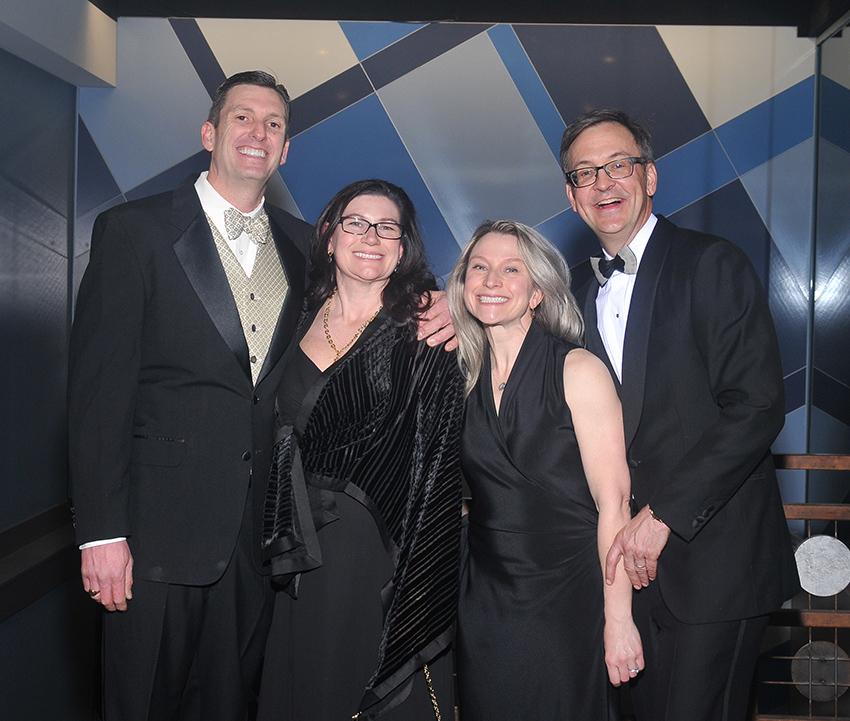 Dr. Ronald Swanger (WCMS President), his wife Diane Swanger, Dr. Joann Ellero and Dr. Andrew Pasternak (WCMS Past President)